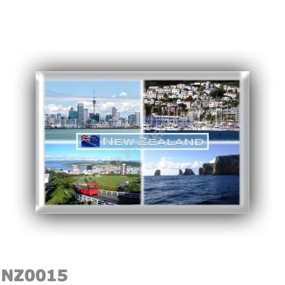 NZ0015 Oceania - New Zealand - Auckland Skyline - Wellington panorama - Wellington Cable Car - Forty Four Chatham Archipelago, C