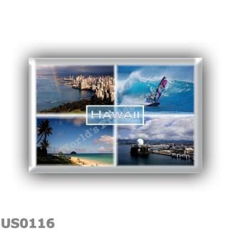 US0116 America - Usa - Hawaii - Honolulu view - The Perouse - Lanikai Beach Oahu - Pearl Harbor