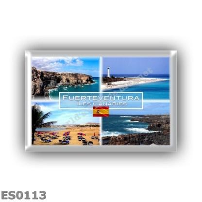 ES0113 Europe - Spain - Iles Canaries - Fuerteventura - Cuevas de Ajyuy - Morro Jable - Beach - Panorama