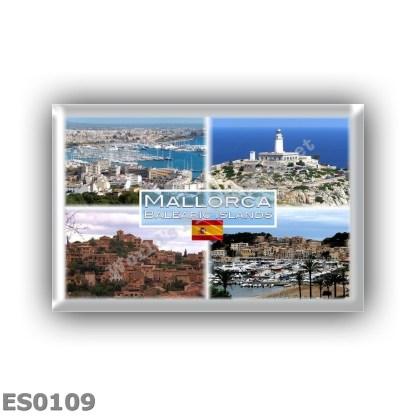 ES0109 Europe - Spain - Balearic Islands - Mallorca - View of Palma Bay - Cap de Formentor - Deja - Port de Soler marina