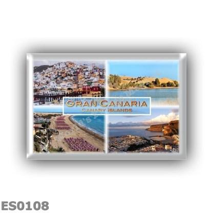 ES0108 Europe - Spain - Gran Canaria - Las Palmas - Dunes de Maspalomas - Playa del Ingles Beach - Puerto de Mogan
