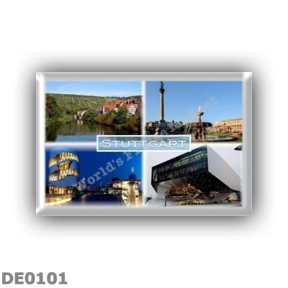 DE0101 Europe - Germany - Stuttgart - River Neckar - Schlossplatz - Mercedes Benz Museum - Porsche Museum