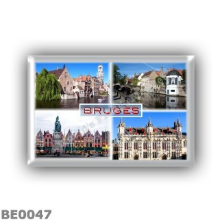 BE0047 Europe - Belgium - Bruges - Canals - Marks - Market Square - Rathaus - Town Hall