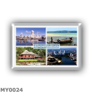 MY0024 - Asia - Malaysia Brunei Indonesia - Borneo - Mosque Omar Ali Saifuddien - Panorama - Sabah Brunei Malay House - Sarawak