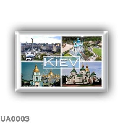 UA0003 - Europe - Ukraine - Kiev - Independence Square - Green Garden St Andrews Church - St Michael s Golden Dome Monastery - S
