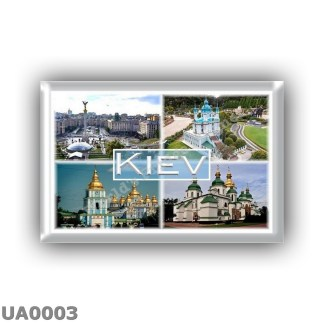 UA0003 - Europe - Ukraine - Kiev - Independence Square - Green Garden St Andrews Church - St Michael s Golden Dome Monastery - S