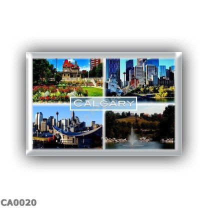 CA0020 America - Canada - Alberta - Calgary - Garden of Blue Blood - Maison Lougheed - Saddledome - Somewhere Over the Bridge