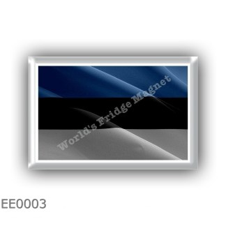 EE0003 Europe - Estonia - flag - waving