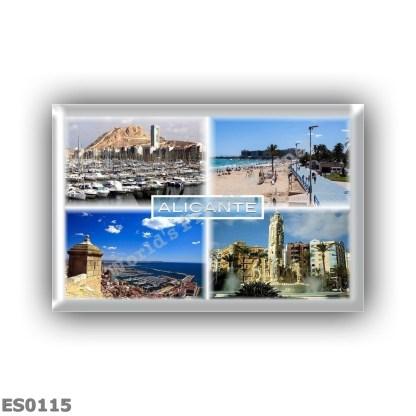 ES0115 Europe Spain - Alicante - Skyline - Postiguet beach - Explanade - Harbor - Luceros Square