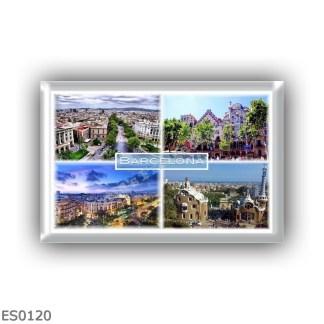 ES0120 Europe - Spain - Barcelona - La Rambla - La Illa de La Discordia - Panorama - Park Guell
