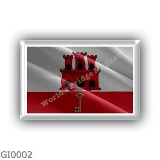 GI0002 - Europe - Gibraltar - flag - waving