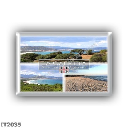 IT2035 Europe - Italy - Sardinia - Siniscola - La Caletta - Panorama - Sea View - Beach