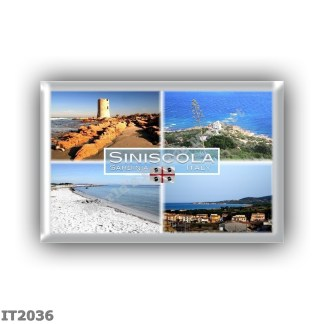 IT2036 Europe - Italy - Sardinia - Siniscola - La Caletta - Saracen Tower - Lighthouse - Capo Comino Beach - Panorama