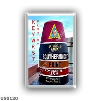 US0120 America - Usa - Florida - Key West - Southernmost point buoy