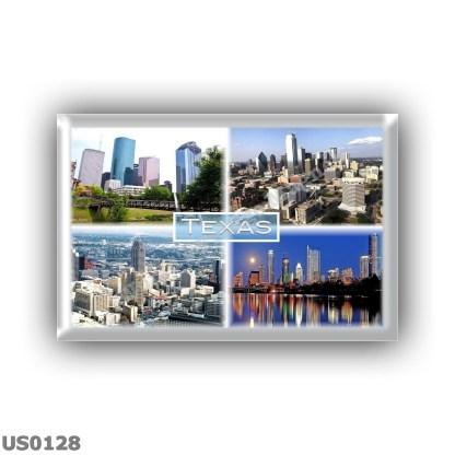 US0128 America - Usa - Texas - Downtown Houston - Downtown Dallas - Downtown San Antonio - Night View of Austin Skyline and Lady Bird Lake