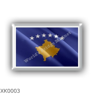 XK0003 Europe – Kosovo - flag - waving