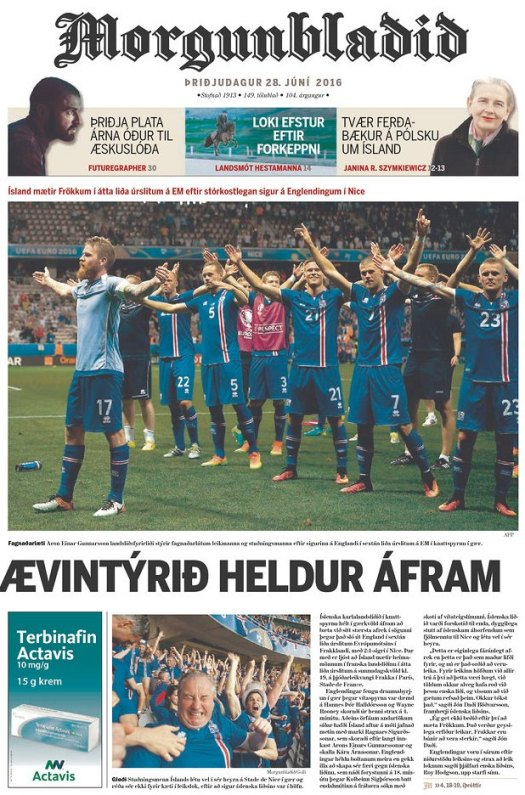 england-iceland-morgunbladid-front-cover
