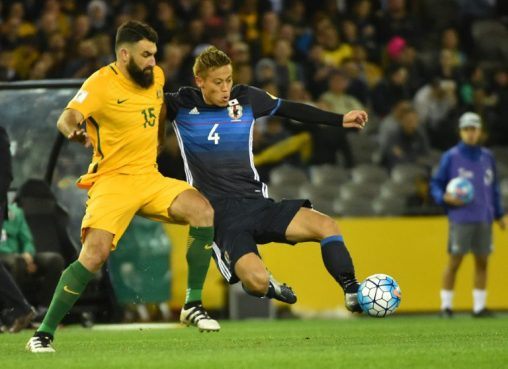 Image result for Mile Jedinak penalty secure draw for Australia