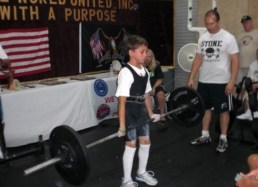 Second powerlifting meet age 10 - Melbourne, FL