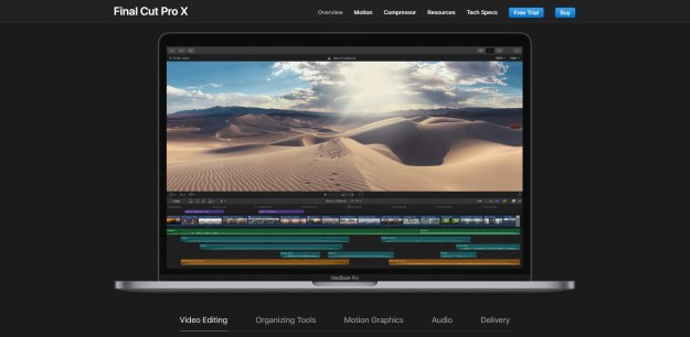 top five and best video editing software
