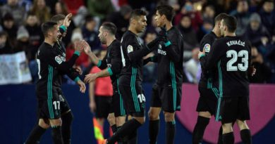 Real Madrid Climbs Third Position After Win At Leganes
