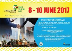 Sanganai World Tourism Expo 2017 @ Sanganai World Tourism Expo 2017 | Bulawayo | Bulawayo Province | Zimbabwe