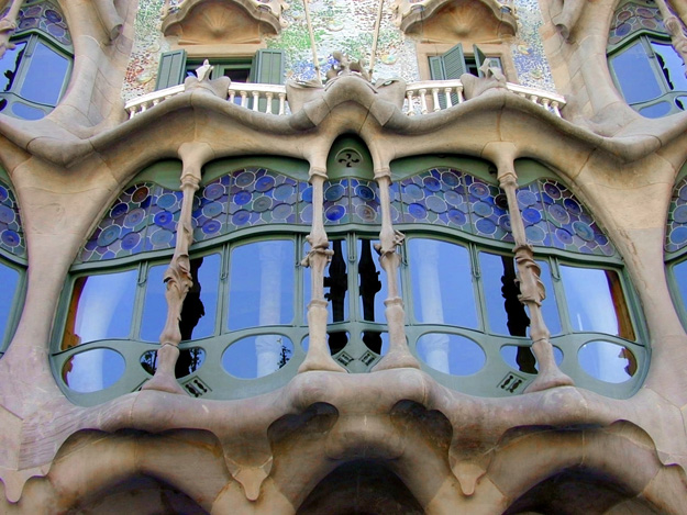 Antonio Gaudi's Casa Batlo in Barcelona, Spain