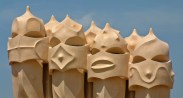 Casa Mila Chimneys in Barcelona, Spain