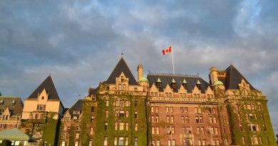 The iconic Empress Hotel in Victoria, BC, Canada