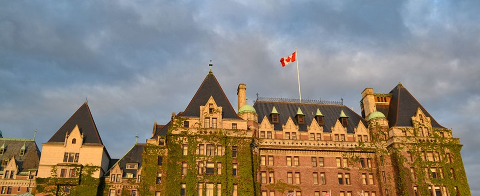 The iconic Empress Hotel in Victoria, BC, Canada