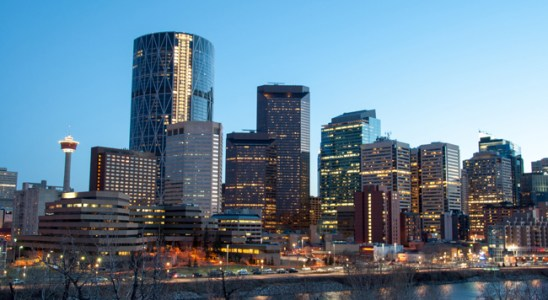 View of the downtown skyline in Calgary