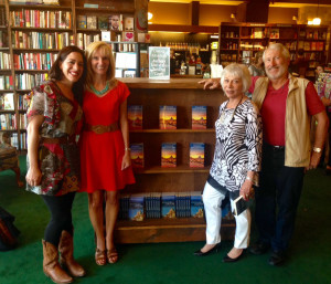 Book signing at Tattered Cover in Littleton, CO. From left to right: contributor Gina Kremer, author/editor Janna Graber, contributor Mim Swartz, contributor Dan Leeth  Author/editor Janna Graber was at Tattered Cover at Aspen Grove (Denver, CO) for a book signing and reading on June 5, 2015 at 7 pm. Graber is the editor of Chance Encounters: Travel Tales from Around the World and Adventures of a Lifetime: Travel Tales from Around the World. Both books are part of the World Traveler Tales anthology book series.  Graber was joined by three talented contributors to Adventures of a Lifetime, including former Denver Post travel editor Mim Swartz and travel writers Dan Leeth and Gina Kremer.