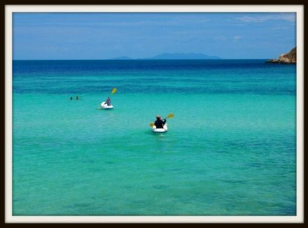 Thai beaches with children