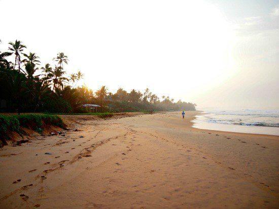 Sri Lanka. Hikkaduwa Beach at dawn.