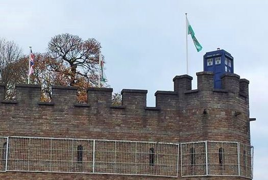 Cardiff Doctor Who. The Tardis on Cardiff Castle