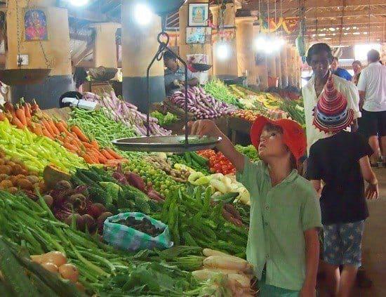 Sri Lanka Travel. Galle markets. Fruit stalls.
