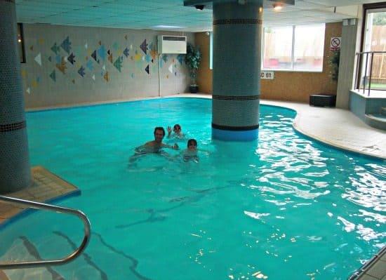 Cheap family accommodation UK. Bournemouth pool