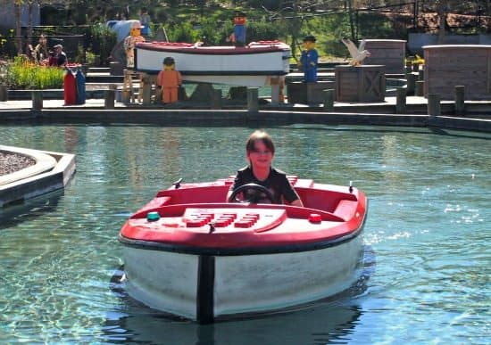 Legoland Orlando's boat school, great for independent fun.