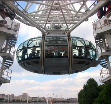 Pod on The London Eye. World Travel Family blog