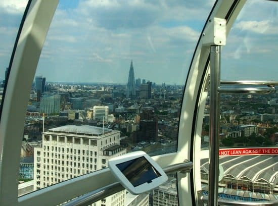 The Shard from The London Eye. World Travel family