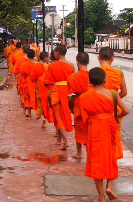 Monks Walk, Luang Prabang Laos