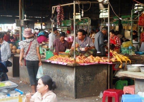 cambodian market battambang