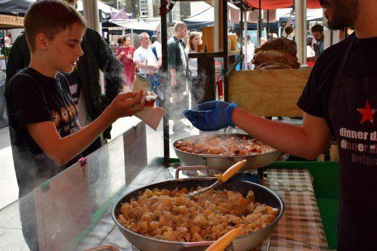 -Greenwich Market Food Stalls Portuguese