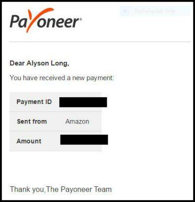 Payoneer Amazon