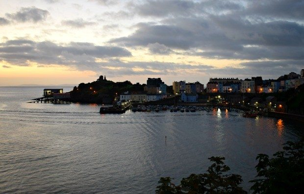 Dawn Tenby Harbour Ironman Wales 2016