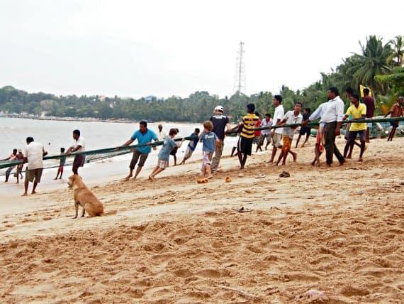 Sri Lanka beaches Tangale fishing nets