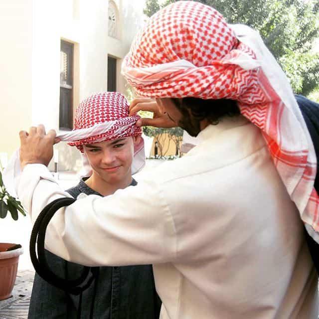 Dubai Arab costume.