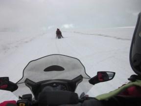 Skidoo Cruising auf dem Vatnajökull