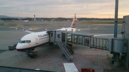 Mein Flieger von Icelandair gelandet in Oslo
