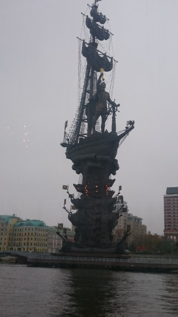 Best view on the statue of Peter the Great who built St. Petersburg